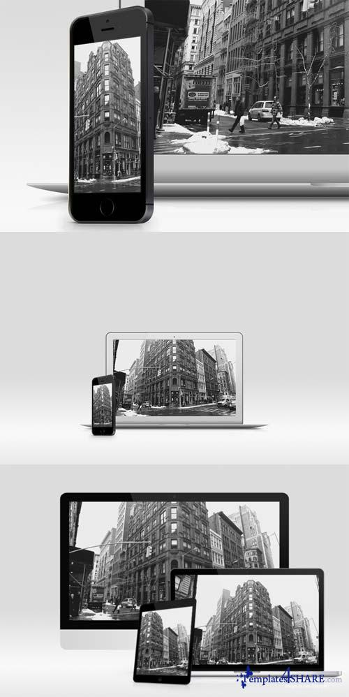 CreativeMarket 5 Premade Screen Mockups