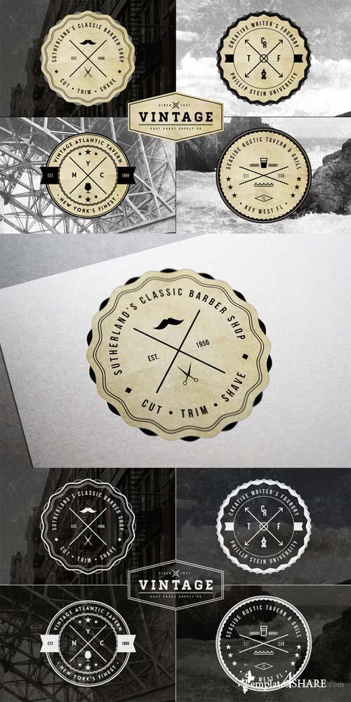 CreativeMarket Vintage Logo Badge Templates