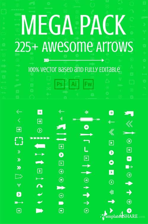 CreativeMarket Mega Pack of Awesome Arrows