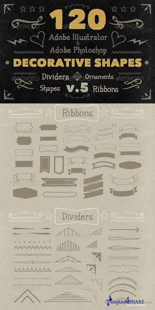 GraphicRiver 120 Handwritten Decorative Shapes 05