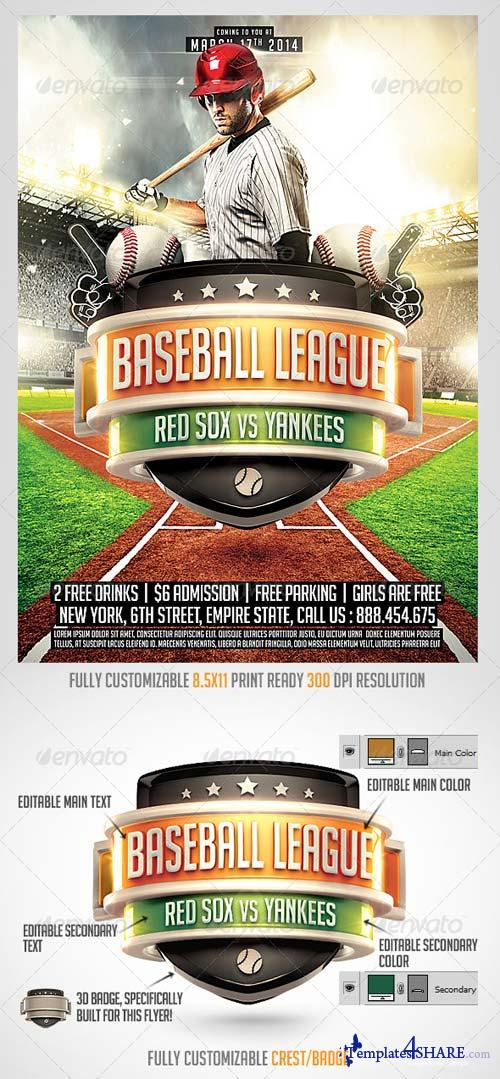 GraphicRiver Baseball League Flyer Template