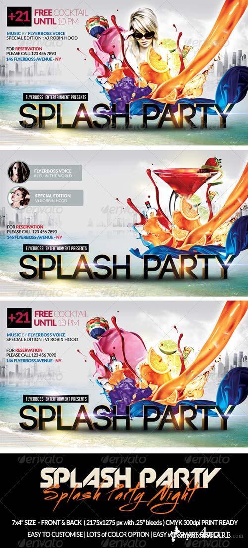 GraphicRiver Splash Party Flyer-Front & Back