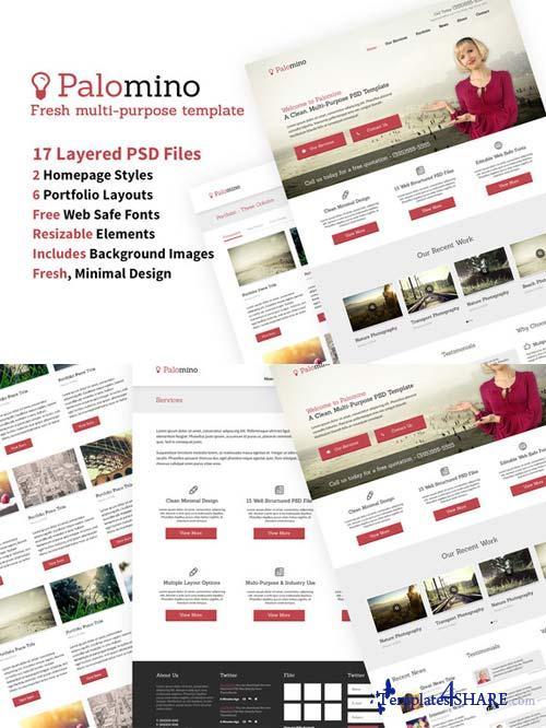CreativeMarket Website Template 17 PSDs