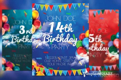 CreativeMarket Birthday Party Flyer