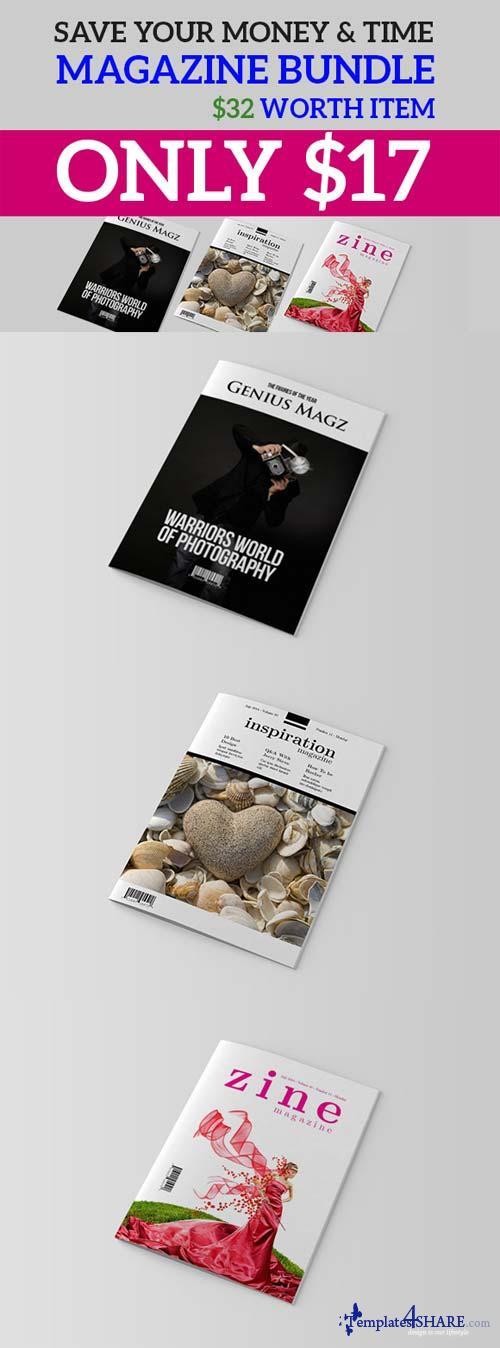 CreativeMarket InDesign Magazine Bundle V1