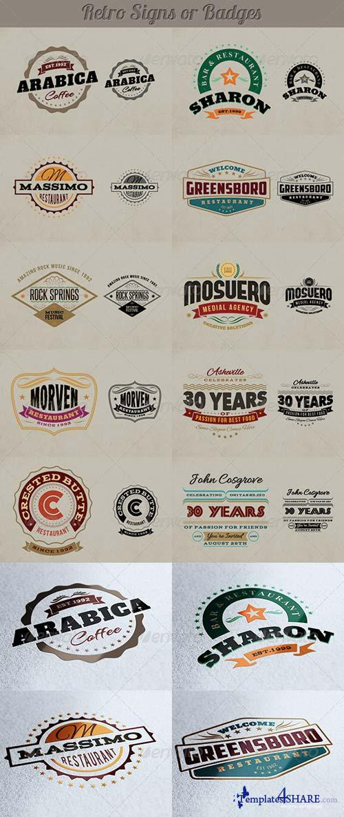 GraphicRiver Retro Signs or Banners