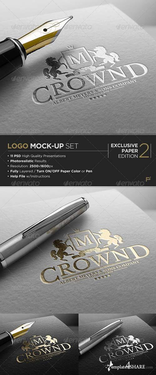 GraphicRiver Logo Mock-Up / Exclusive Paper Edition 2