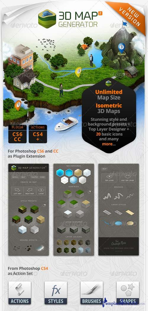 GraphicRiver 3D Map Generator 2 - Isometric