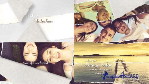 Torn Slideshow - Image/Video - After Effects Project (Videohive)
