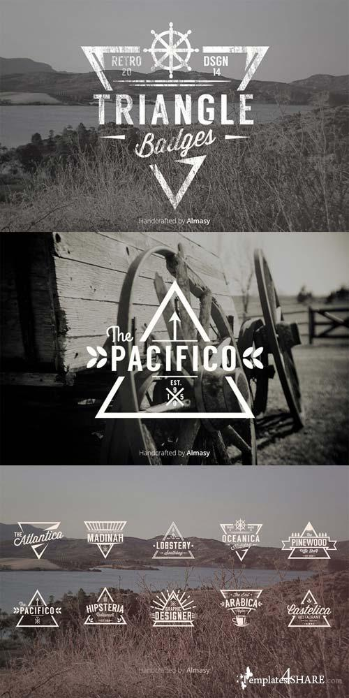 CreativeMarket Triangle Badges Vol.1