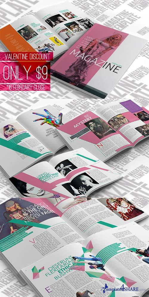 CreativeMarket InDesign Magazine Template