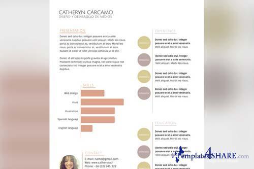 CreativeMarket Resume Tricolor