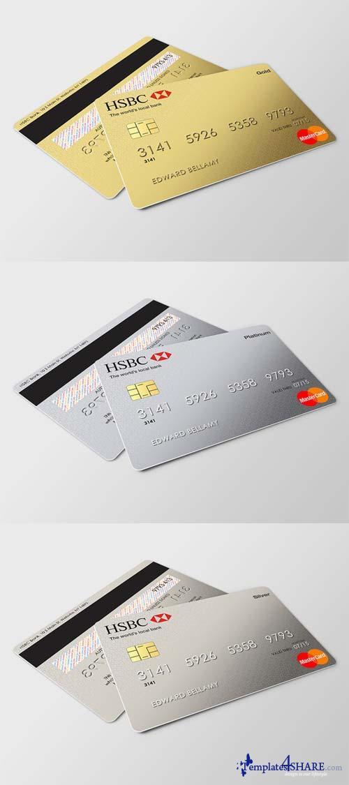 CreativeMarket Credit Card Mockup