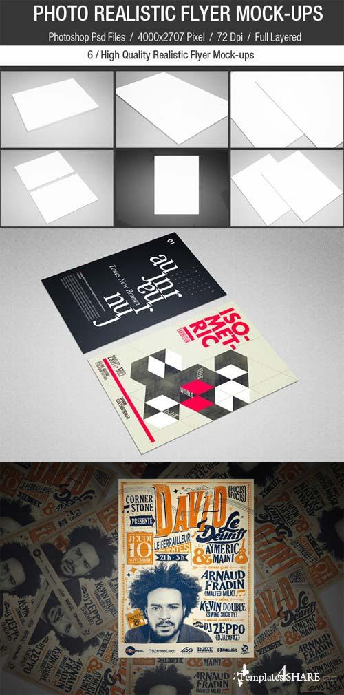 CreativeMarket Photo Realistic Flyer Mock-Ups set