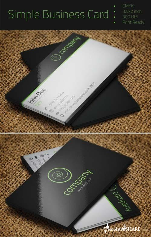 CreativeMarket Simple Business Card
