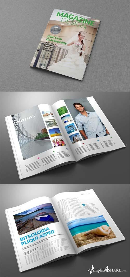 CreativeMarket Magazine/Editorial Template 02