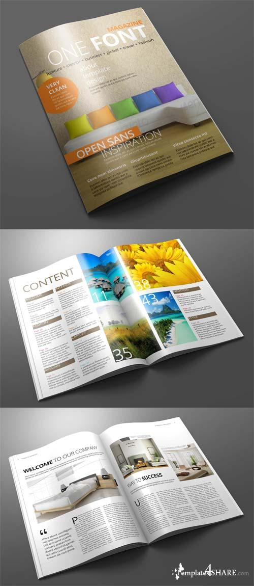 CreativeMarket Magazine/Editorial Template 01