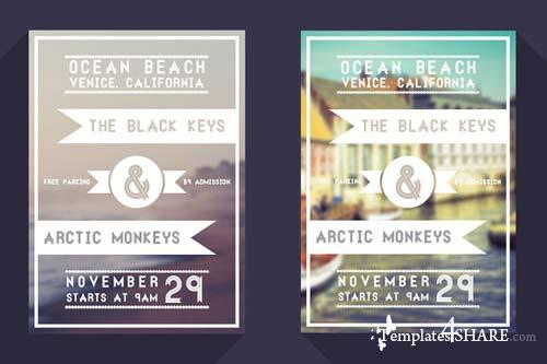 CreativeMarket Miminal Event Flyer