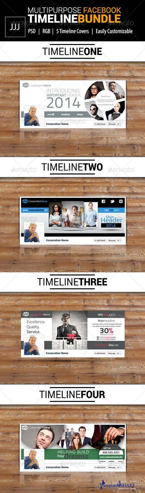 GraphicRiver Business Facebook Timeline Bundle Vol.1