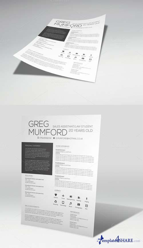 CreativeMarket Catwalk CV Template