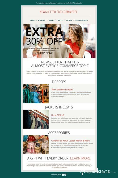 CreativeMarket Fashion Ecommerce Newsletter PSD