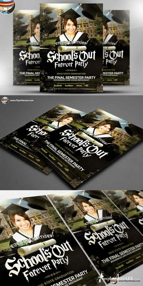 CreativeMarket School's Out Forever Flyer Template