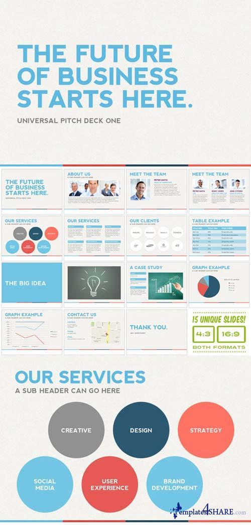 CreativeMarket Universal Pitch Deck One PowerPoint