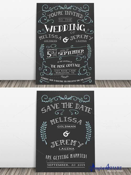CreativeMarket Wedding Invitation Suite