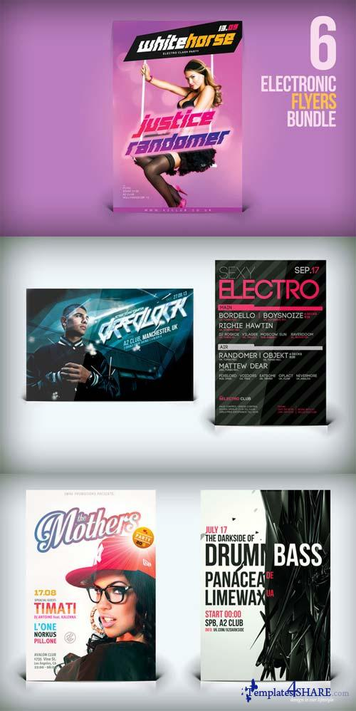 CreativeMarket 6 Electronic Flyers Bundle