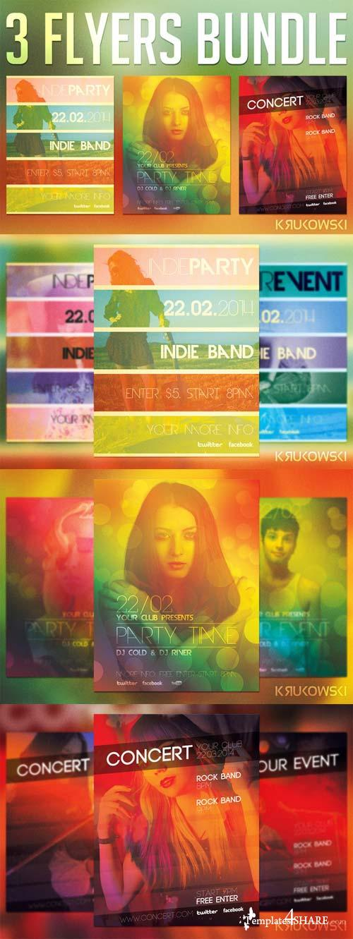CreativeMarket Indie Event Flyers Bundle