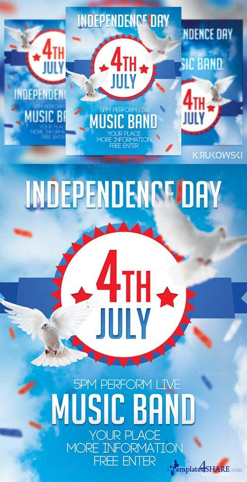 CreativeMarket 4th July Flyer