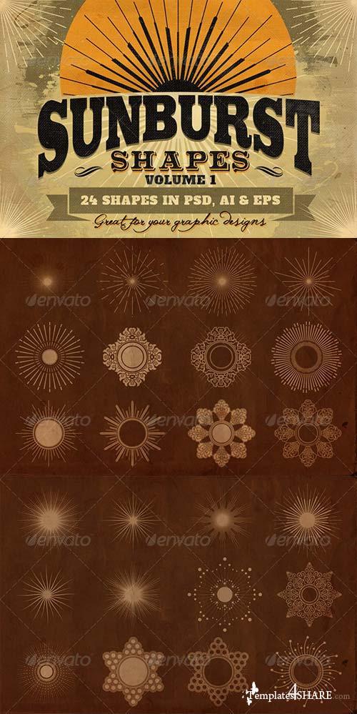 GraphicRiver Sunbursts Shapes Vol.1