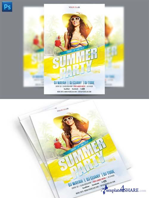 CreativeMarket Summer Party Flyer Template