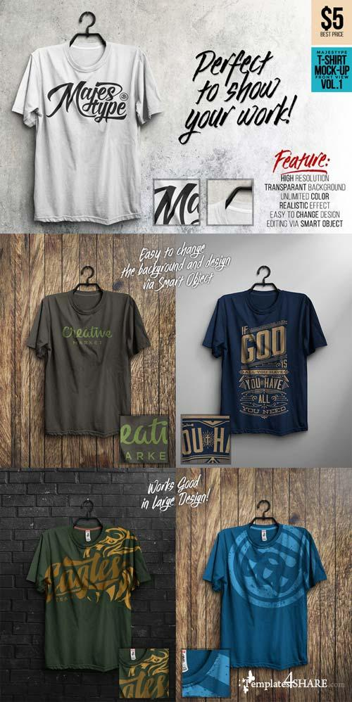 CreativeMarket MJT Realistic T-Shirt Mock-Up