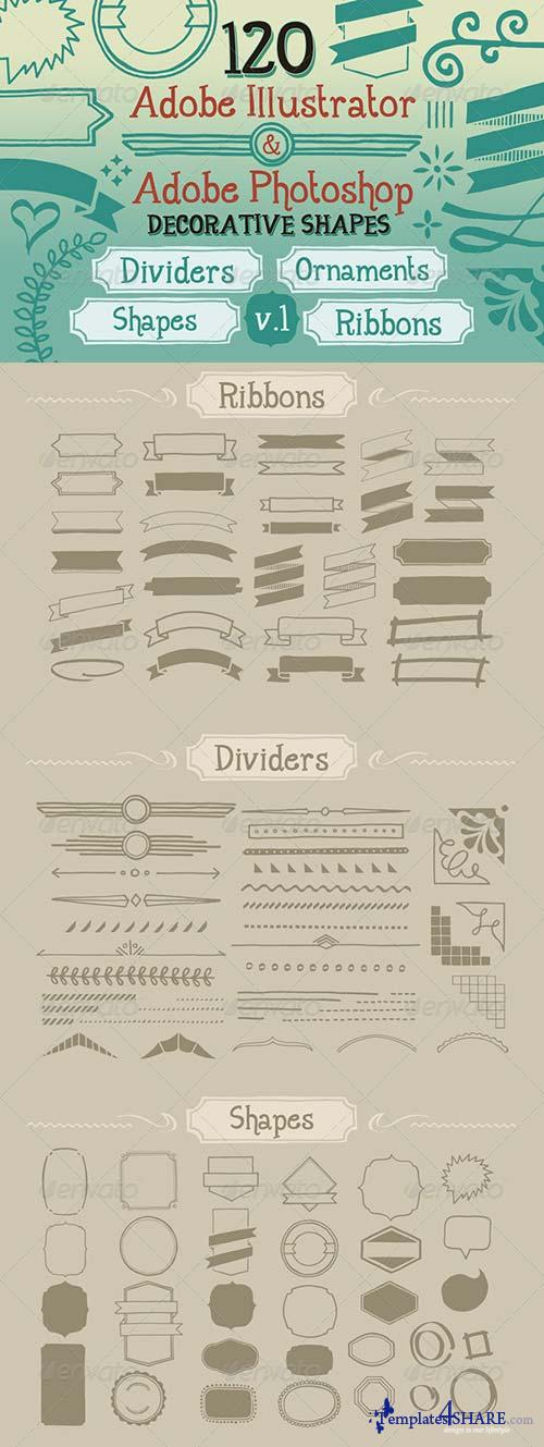 GraphicRiver 120 Handwritten Decorative Shapes 01