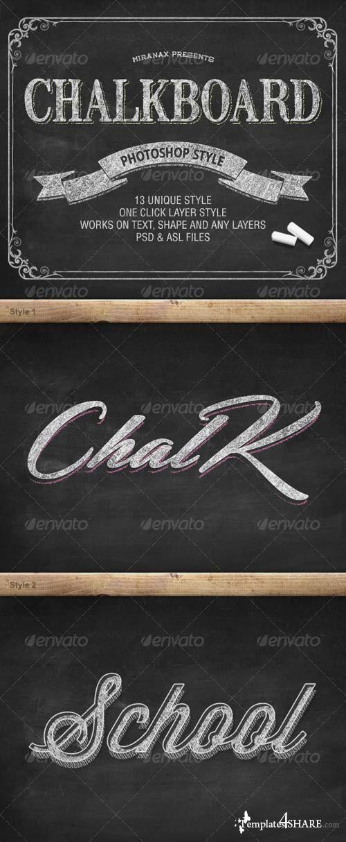 GraphicRiver Chalkboard Photoshop PSD Layer Styles
