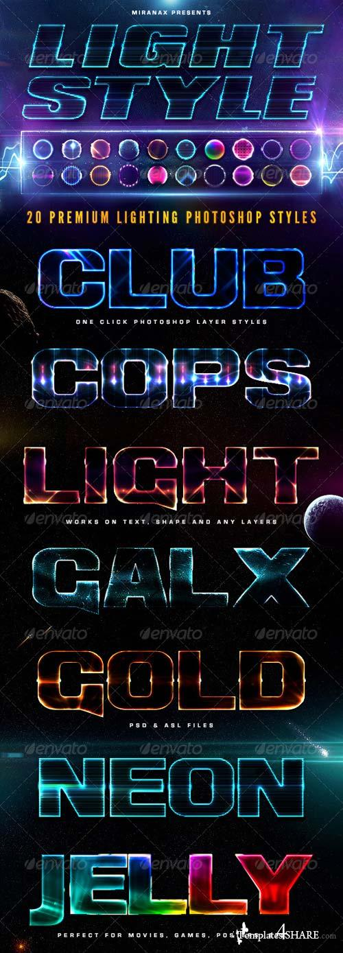GraphicRiver 20 Lighting PSD Text Effects