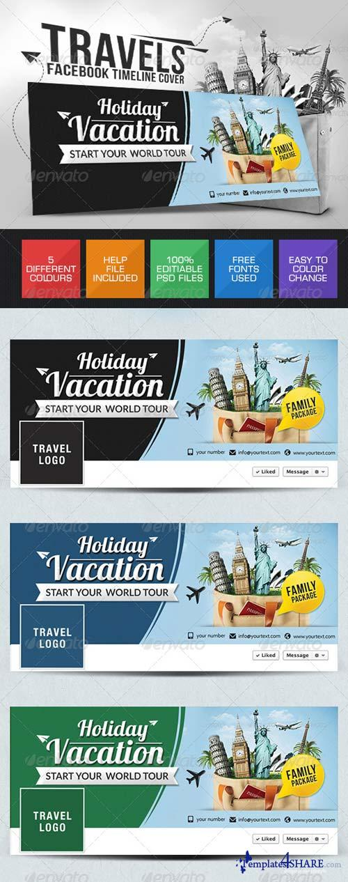 GraphicRiver Vacation Facebook Cover Page