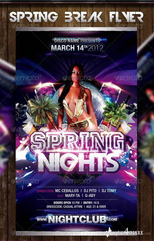 GraphicRiver Spring Night Party Flyer