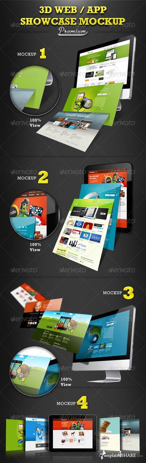 GraphicRiver Web / App Showcase Mockup