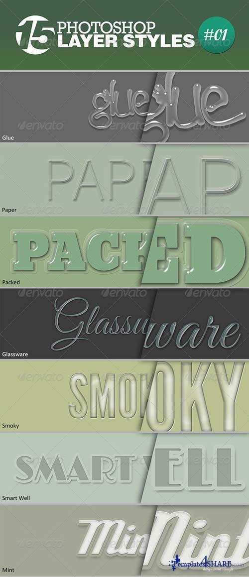 GraphicRiver 15 Unique Photoshop Layer Styles #01