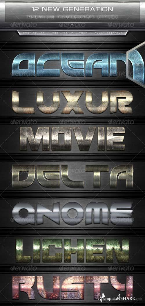 GraphicRiver 12 New Generation Text Effect Styles Vol.1