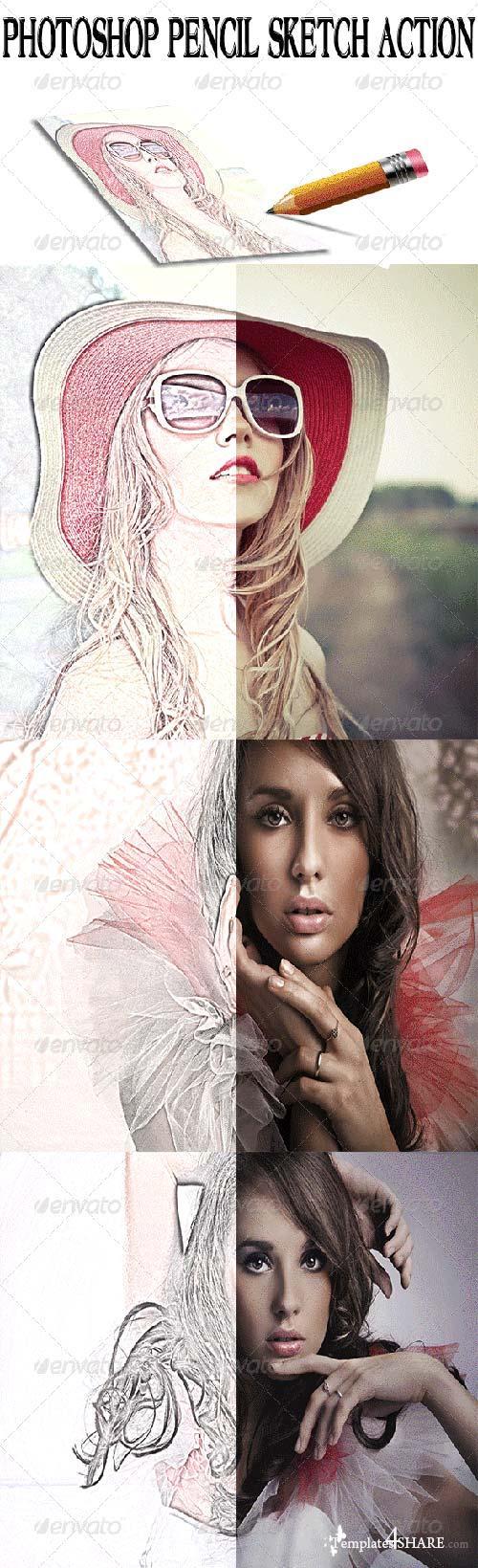GraphicRiver Photoshop Pencil Sketch Action