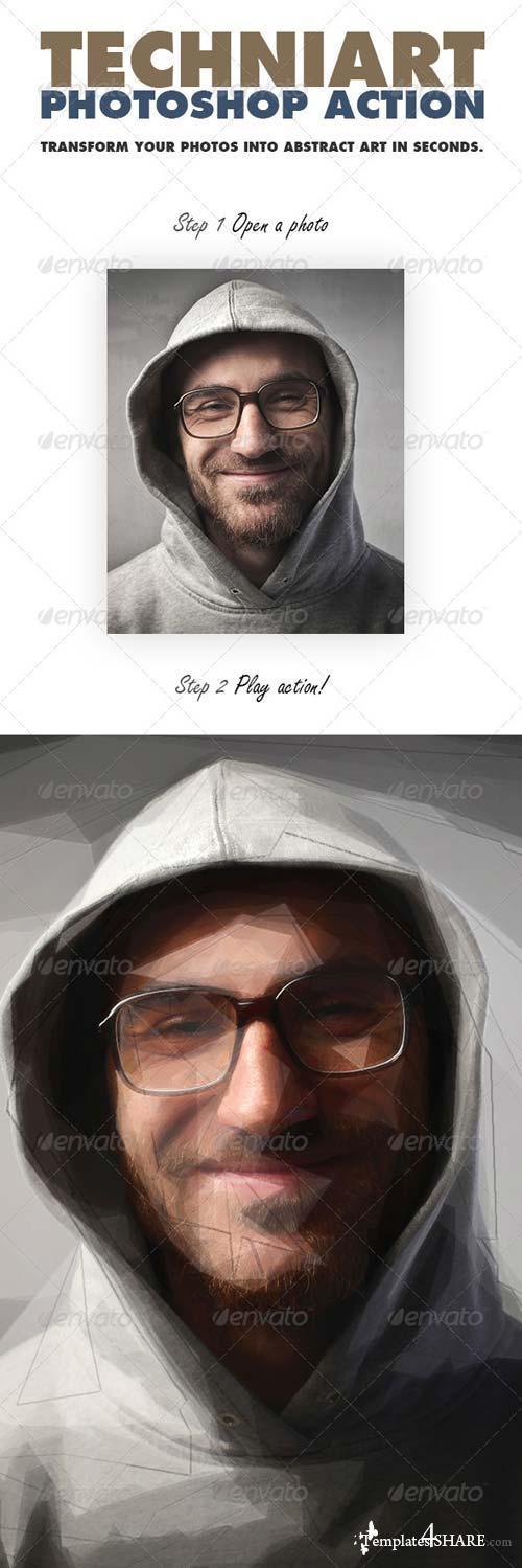 GraphicRiver TechniArt Photoshop Action