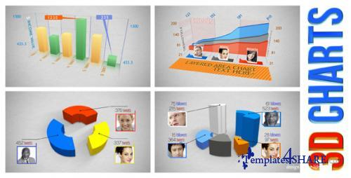 3D Charts - After Effects Project (Videohive)