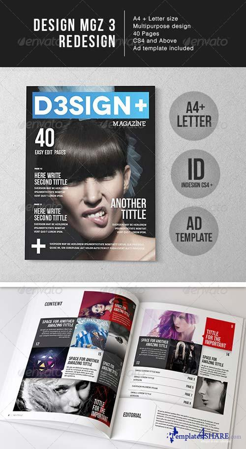 GraphicRiver D3sign+ Mgz Template - A4 + Letter