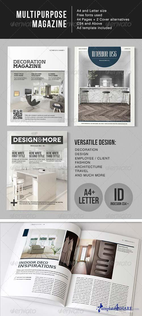 GraphicRiver Multipurpose 44 Page Magazine - A4 + Letter