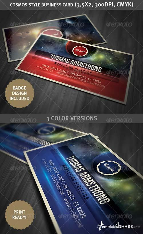 GraphicRiver Cosmos Style Business Card