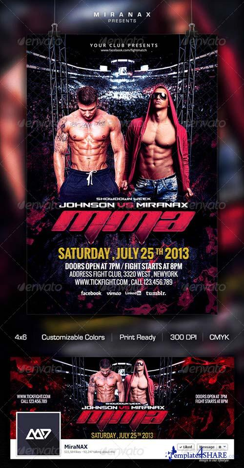 GraphicRiver Fight / MMA / UFC Night Flyer Template