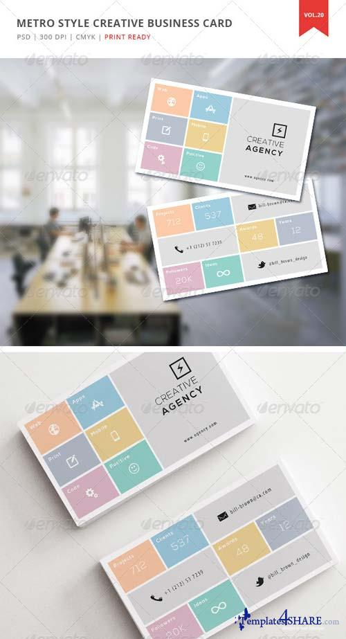 GraphicRiver Metro Style Creative Business Card - Vol. 20
